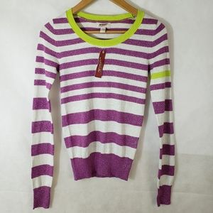 NEW Arizona Jeans Co Striped Lightweight Sweater
